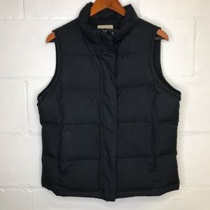 LL Bean Goose Down Puffer Vest Black Medium